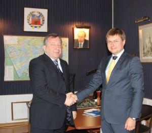 Губернатор встретился с руководством ОАО «СОГАЗ»