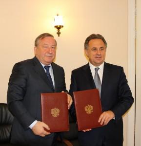 Александр Карлин подписал соглашение с Министром спорта Российской Федерации Виталием Мутко