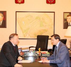 Губернатор Александр Карлин провел рабочие встречи с депутатами Государственной Думы от Алтайского края