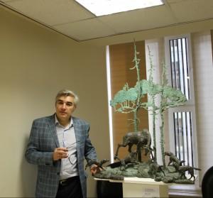 Выставка Олега Закоморного открылась в Совете Федерации